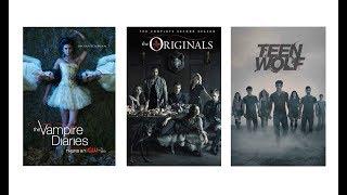 3 сериала: Дневники вампира, Древние, Волчонок