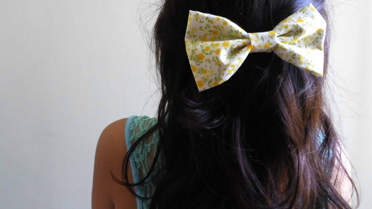 diy - fabric hair bow. sew