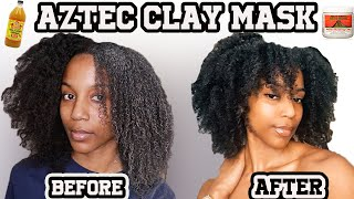 DETOXING MY NATURAL HAIR WITH AZTEC CLAY MASK SUPER DEFINED CURLS
