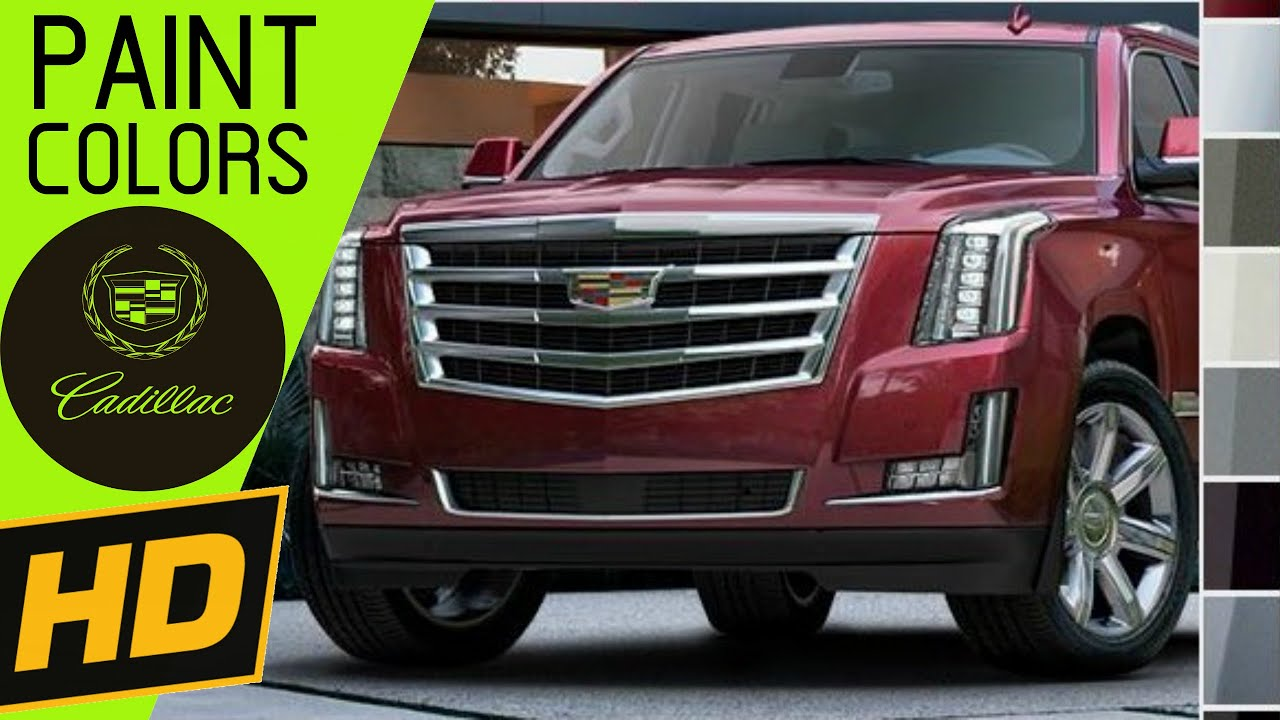 2016 Cadillac Escalade Paint Colors
