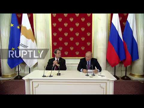 Russia: Putin urges 'fair' solution to Cyprus issue at meeting with Anastasiades
