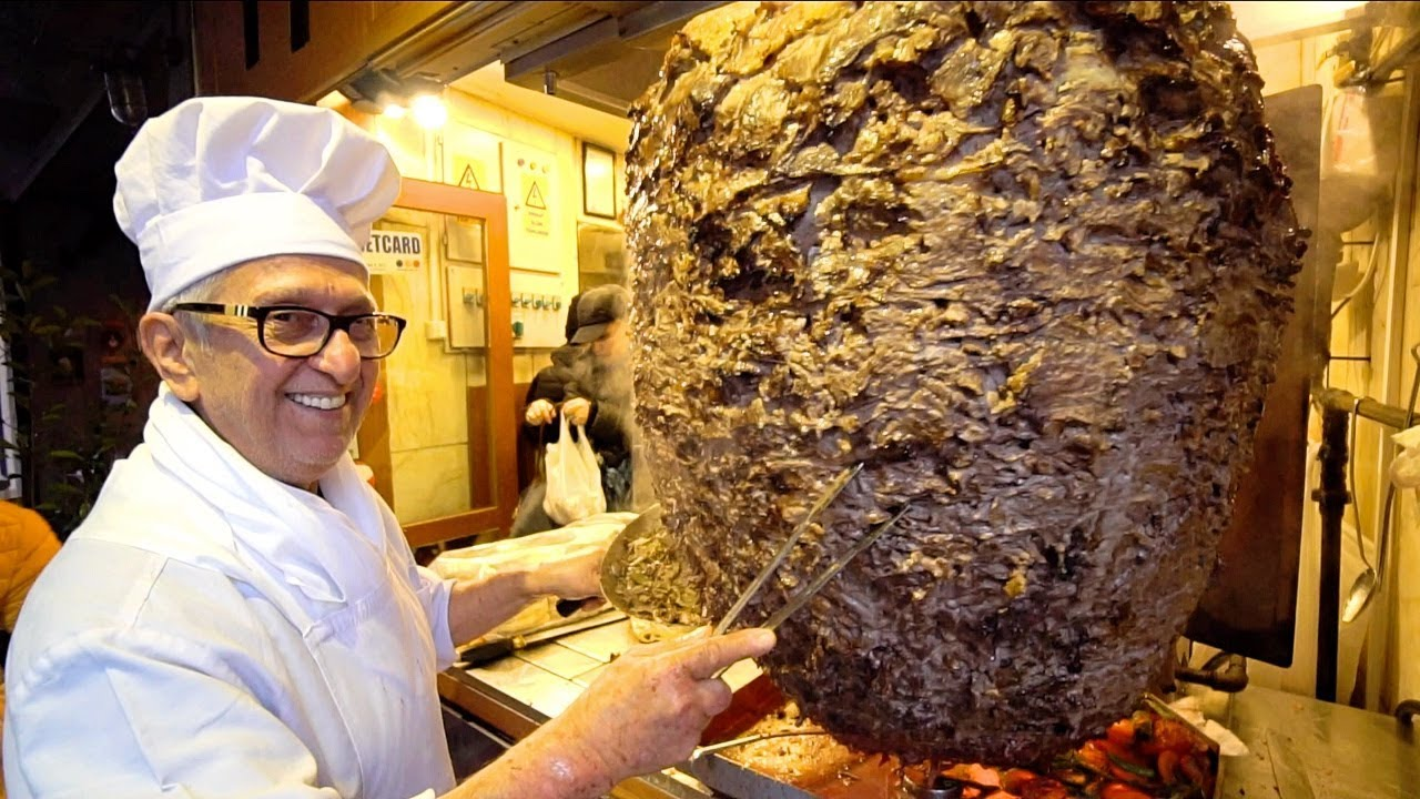 KEBAB KING of TURKEY - ISTANBUL Street Food : World's BIGGEST Döner Kebab | TURKISH STREET FOOD