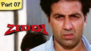 Ziddi (hd) - part 07 of 15 - superhit blockbuster action movie - sunny deol, raveena tandon