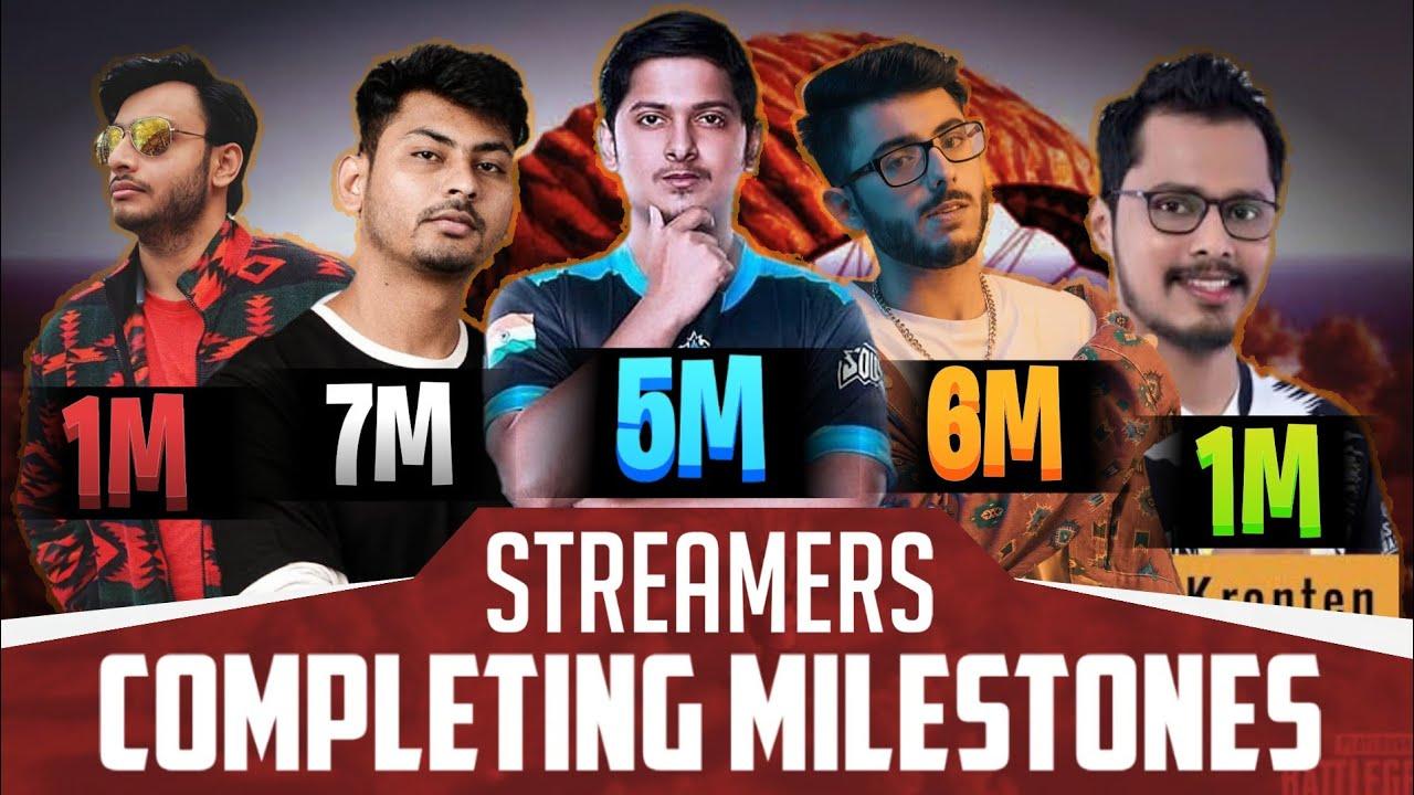 Streamer's Hitting Milestones Compilation | @Mortal 5M Reaction | @Dynamo 7M Celebration@Carry