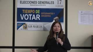 Tema: Mensaje de la Presidenta del Comité Electoral Universitario de la UNMSM