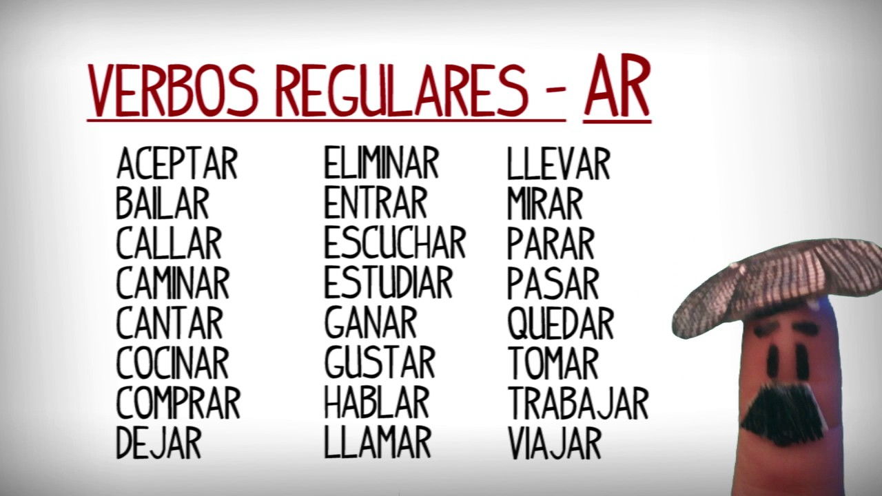 list of common regular and irregular verbs in spanish learn spanish