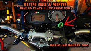 """Tuto Méca Moto """"Hornet """"MISE EN PLACE D UNE PRISE  USB"""