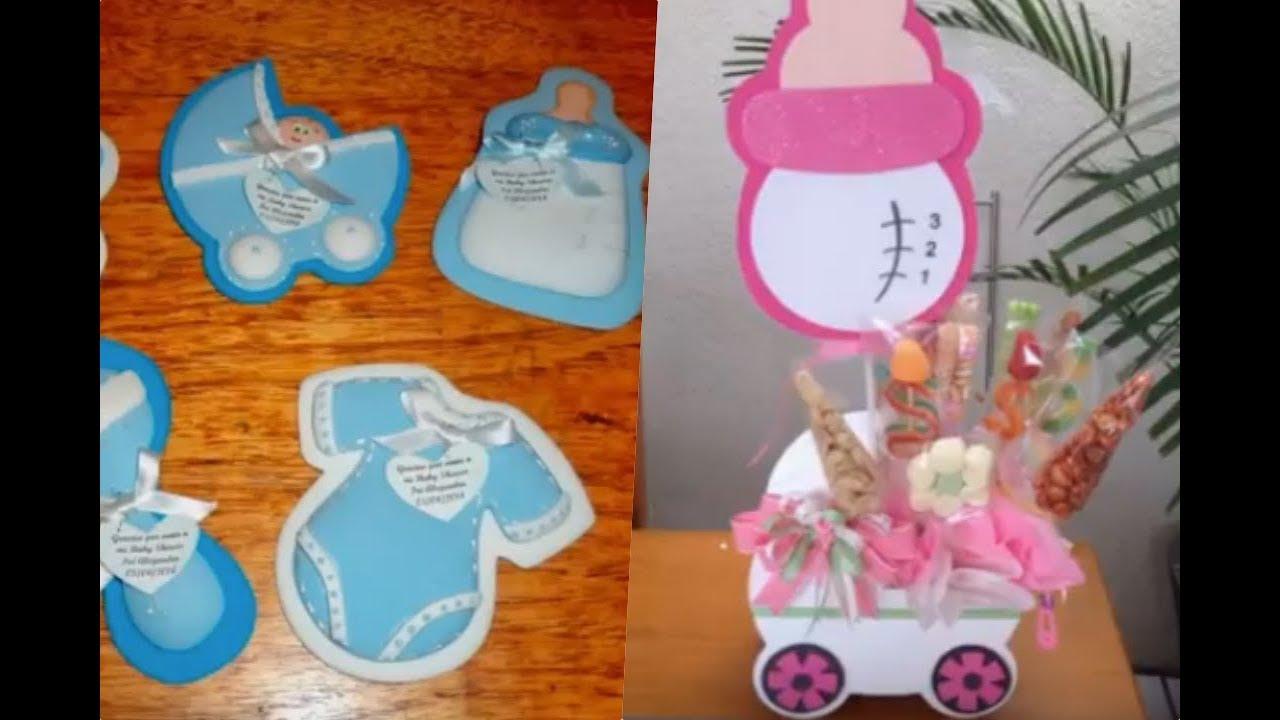 Ideas de distintivos y adornos para baby shower de nio  YouTube