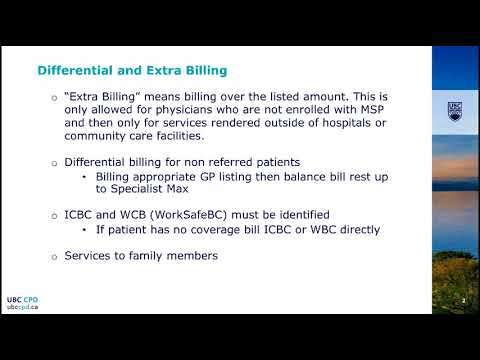 Billing in BC: Basics for Specialty Medicine - Part 5