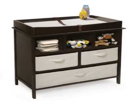 New Badger Basket Company Estate Baby Changing Table, Espresso Product images