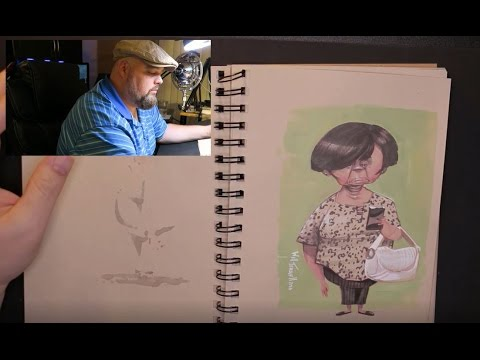 Cartooning and Markers with Will Terrell – Lesson 1 – Keeping a Sketchbook