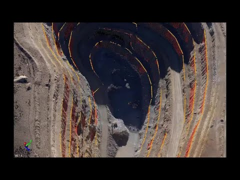 Trimble Business Center - HCE: Drill Plan Demo For Open Pit Mine