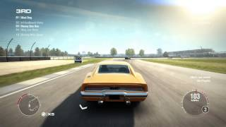 GRID 2 PC Multiplayer Race Gameplay: Tier 1 Upgraded Dodge Charger R/T, Indianapolis Infield Circuit