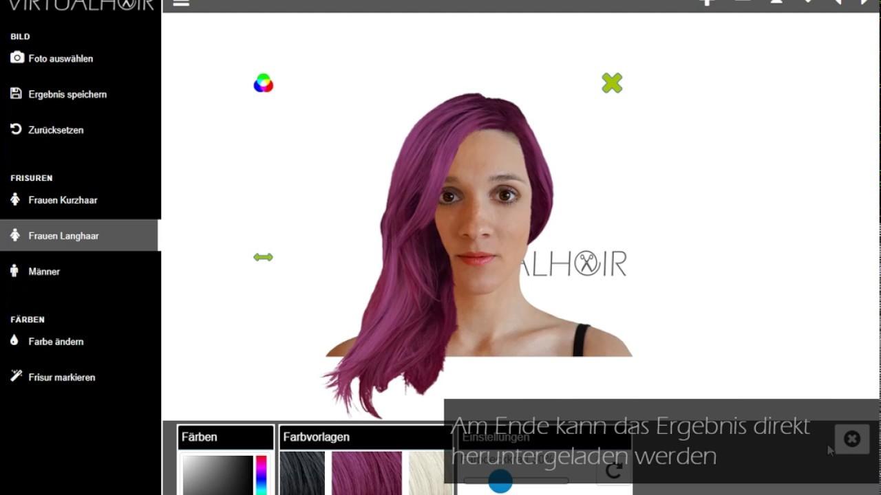 Bild haarfarbe andern online