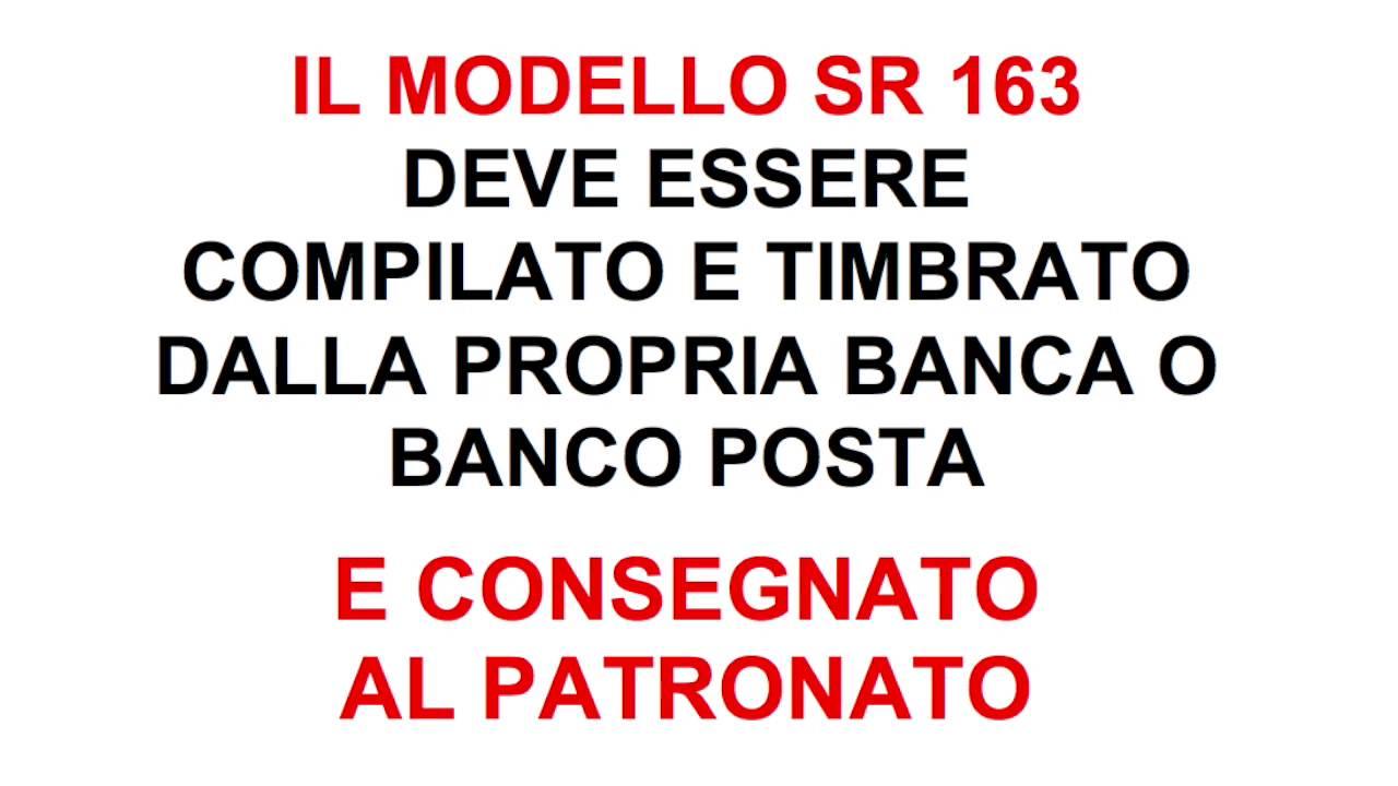 modulo sr163 editabile