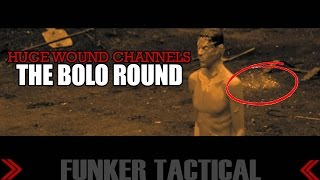 The Bolo Round | HUGE Wound Channels in Slow Motion