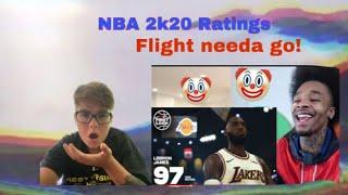 NBA 2k20- Flightreacts gotta stop!😂💀 Reacting to NBA 2k20 top 20 Rated players