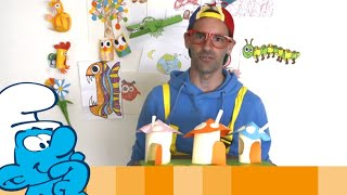 Smurfy crafts with Animatie Musketiers • Les Schtroumpfs