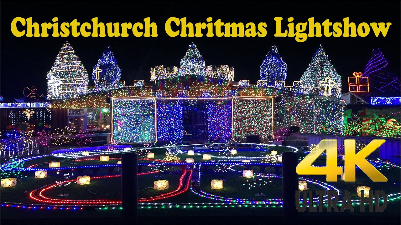 christchurch christmas lightshow biggest light display in new zealand youtube
