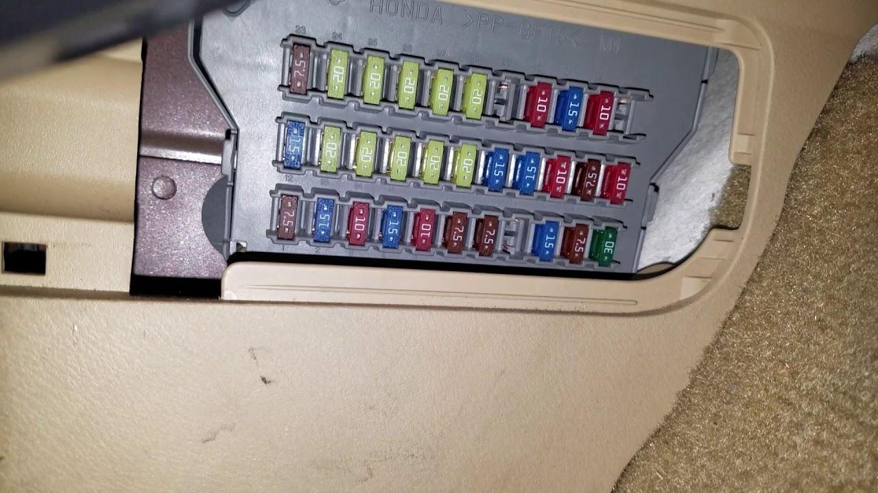 honda odyssey cigarette lighter fuse [ 1280 x 720 Pixel ]