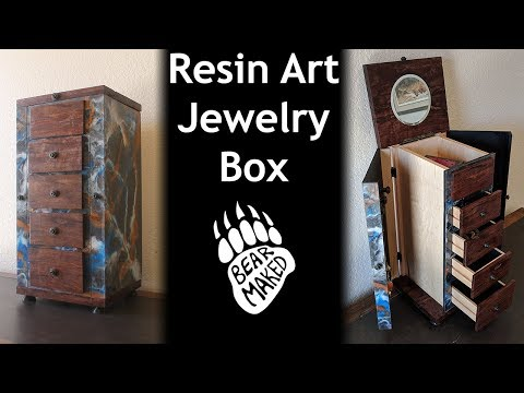 Resin Art Jewlery Box - DIY & Woodworking