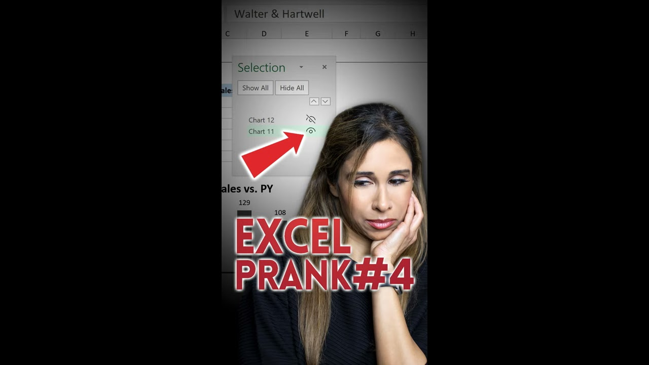 WHERE Did MY CHARTS GO?! Excel Prank Part 4 #shorts