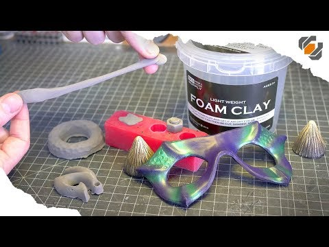 Experimenting With Foam Clay! - Casting, Carving, & Painting!