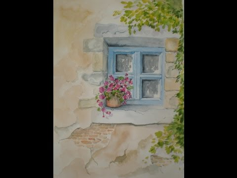One lecture from a course - Learn how to paint an old French building in watercolours