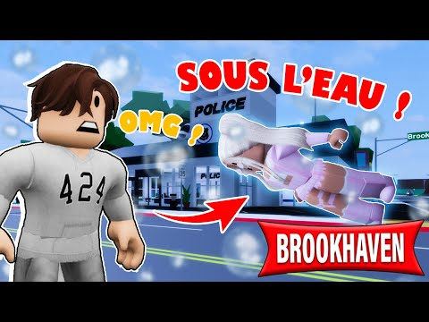 BROOK HAVEN SOUS L'EAU !!! | ROBLOX BROOKHAVEN MINI FILM RP