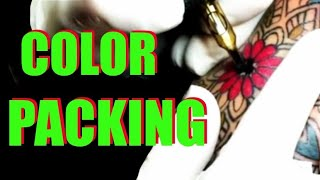 ✅How to tattoo: COLOR PACKING FOR BEGINNERS. ? With Round shader and Mag.✅