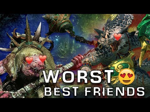 Warhammer 2 Lord Skrolk And Gor-Rok Worst-Best-Friend W/ Majorkill