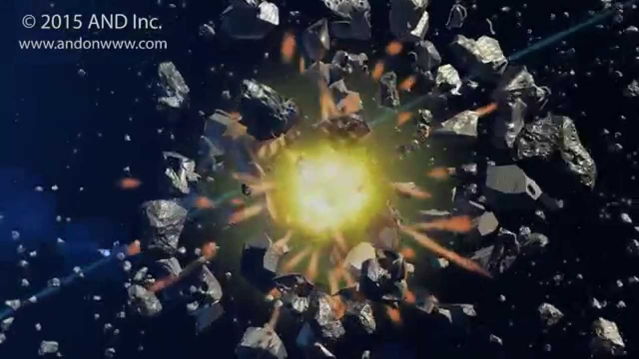 Asteroid Collision In Space
