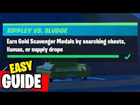 Earn Gold Scavenger Medals By Searching Chests, Llamas, Or Supply Drops Fortnite