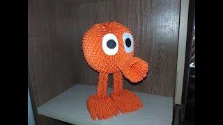 Модульное оригами Q-bert (персонаж из фильма пиксели) мастер класс