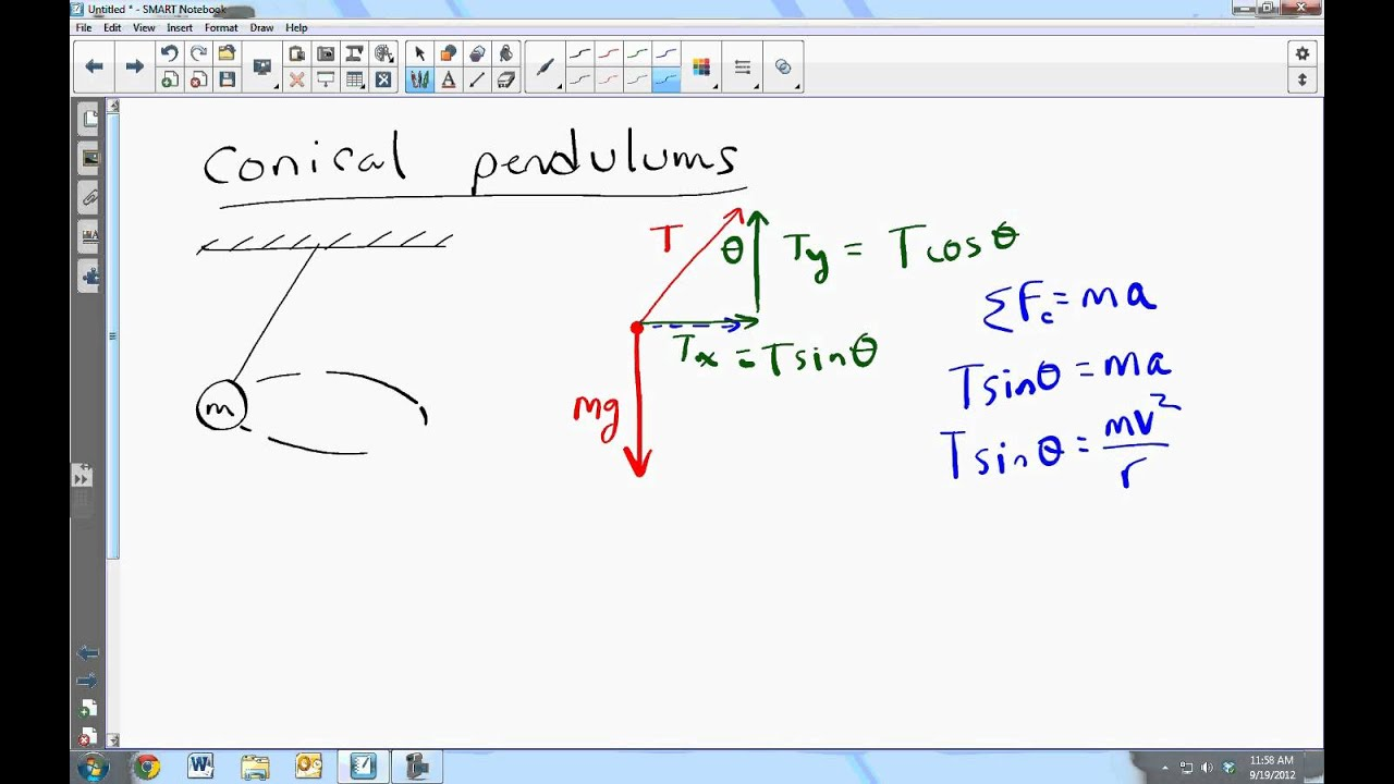 the use of conical pendulum to determine the mass of its bob