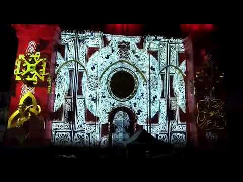 Espectacular 'videomapping' sobre la catedral de Mondoñedo
