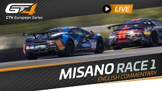 Race 1 - MISANO - GT4 EUROPEAN SERIES 2019 - ENGLISH - LIVE