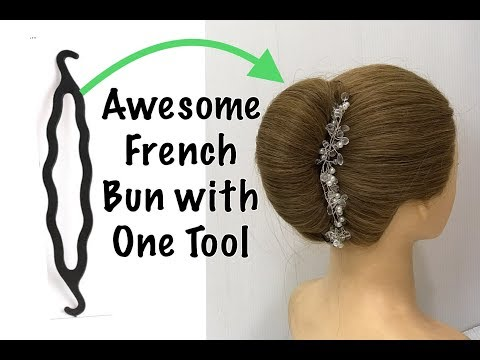1-minute-trick-for-french-bun-hairstyle-|-easy-french-roll-hairstyle-|-beautiful-bun-hairstyles