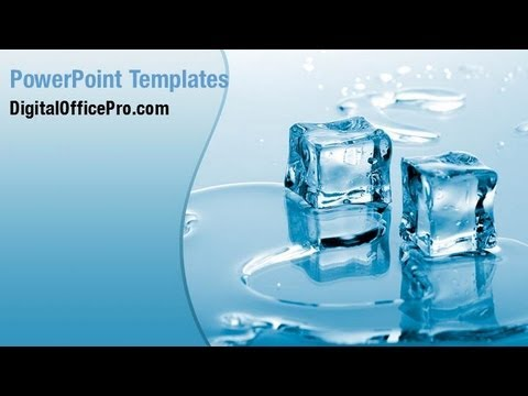 melting ice cubes powerpoint template backgrounds, Modern powerpoint