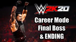 WWE 2K20 My Career Mode Final Boss Fight & ENDING Gameplay (PS4)