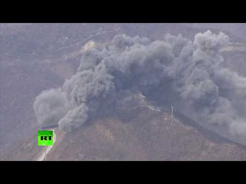 RAW: South Korea demolishes guard post in demilitarized zone