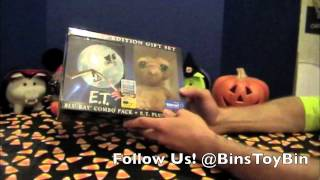E.T. the Extra-Terrestrial Blu-Ray Gift Set Unboxing Walmart Exclusive w/ Plush by Bin