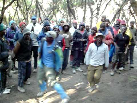 Kilimanjaro songs by ZARA team at Mweka Camp