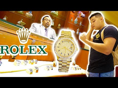 WEARING A FAKE $70,000 ROLEX TO THE ROLEX STORE!!