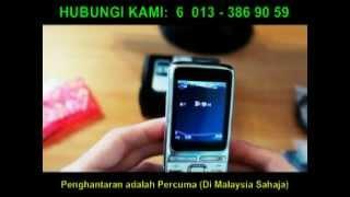 C8 - 3 SIM Standby Music Bar Phone (Fon Muzik  - Tiga SIM Aktif Serentak)