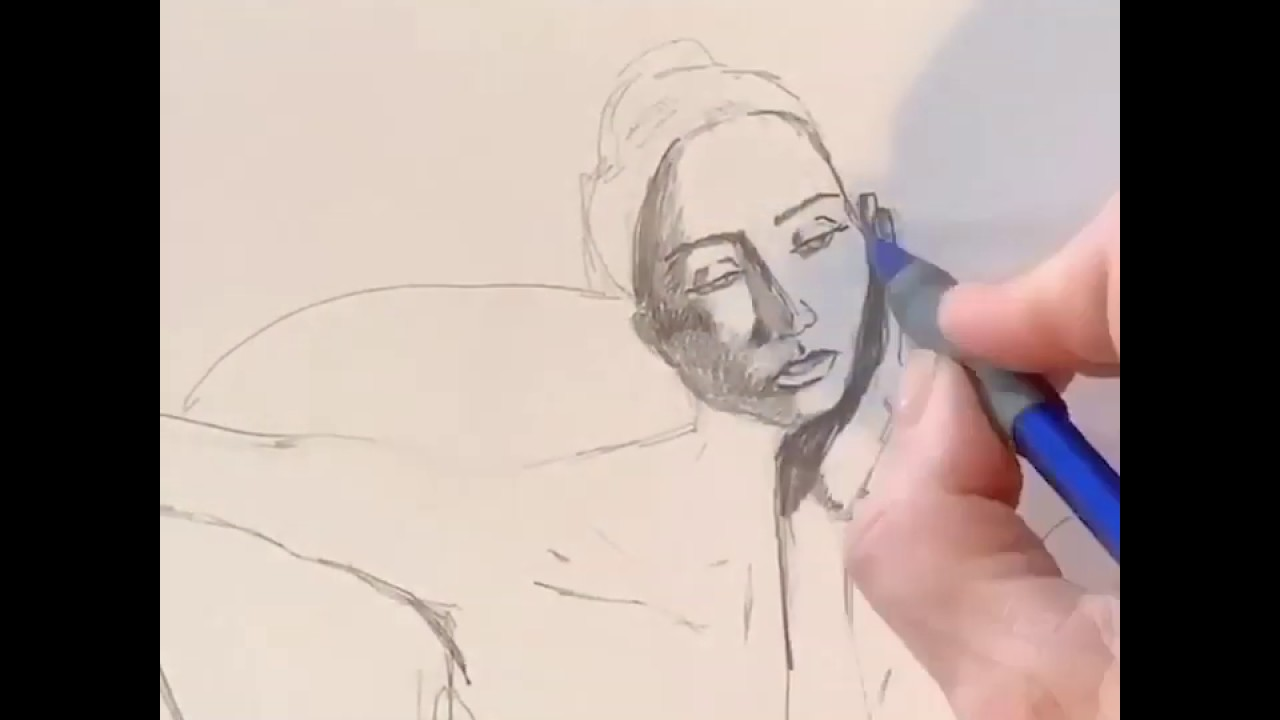 Drawing Time Lapse by artist Janna Coumoundouros