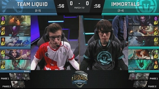 TL (Reignover Khazix) VS IMT (Dardoch Elise) Game 1 Highlights - 2017 NA LCS Spring W4D2