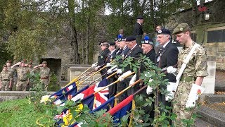 Defend Fife 2018 Service of Remembrance with the Last Post in Dunfermline, Fife, Scotland