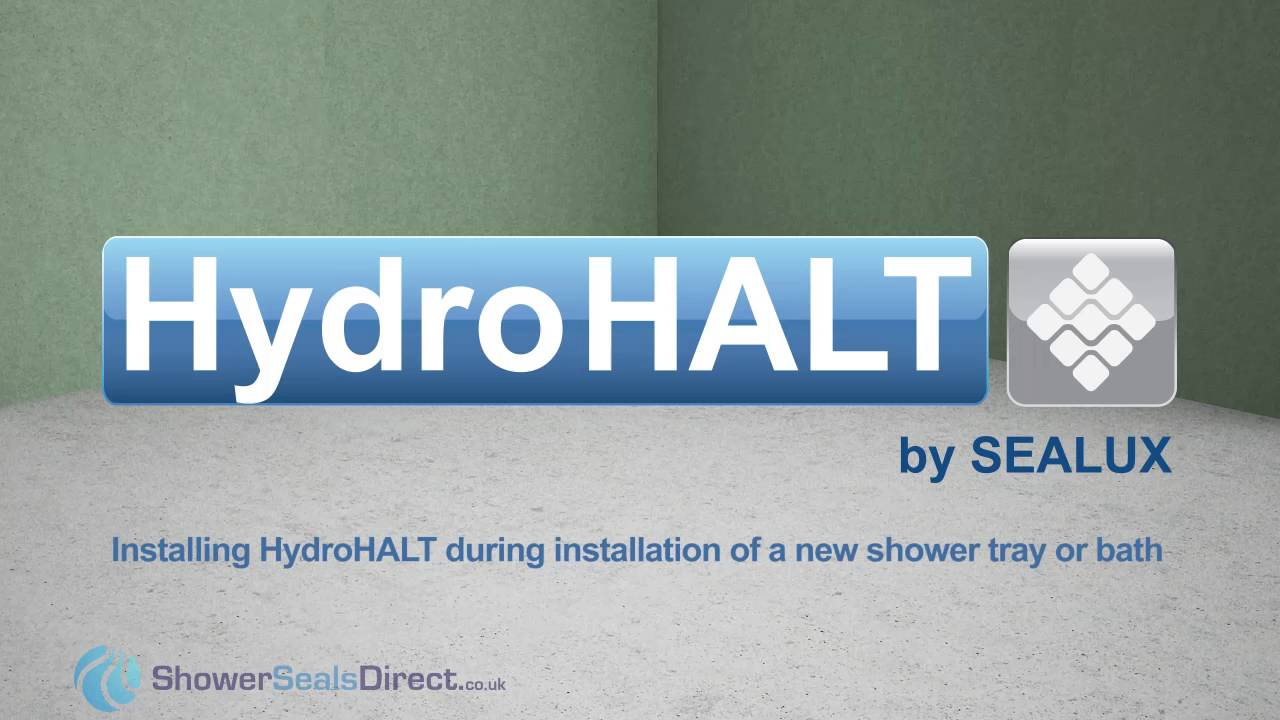 how to install HydroHALT when installing a Shower Tray or Bath - YouTube