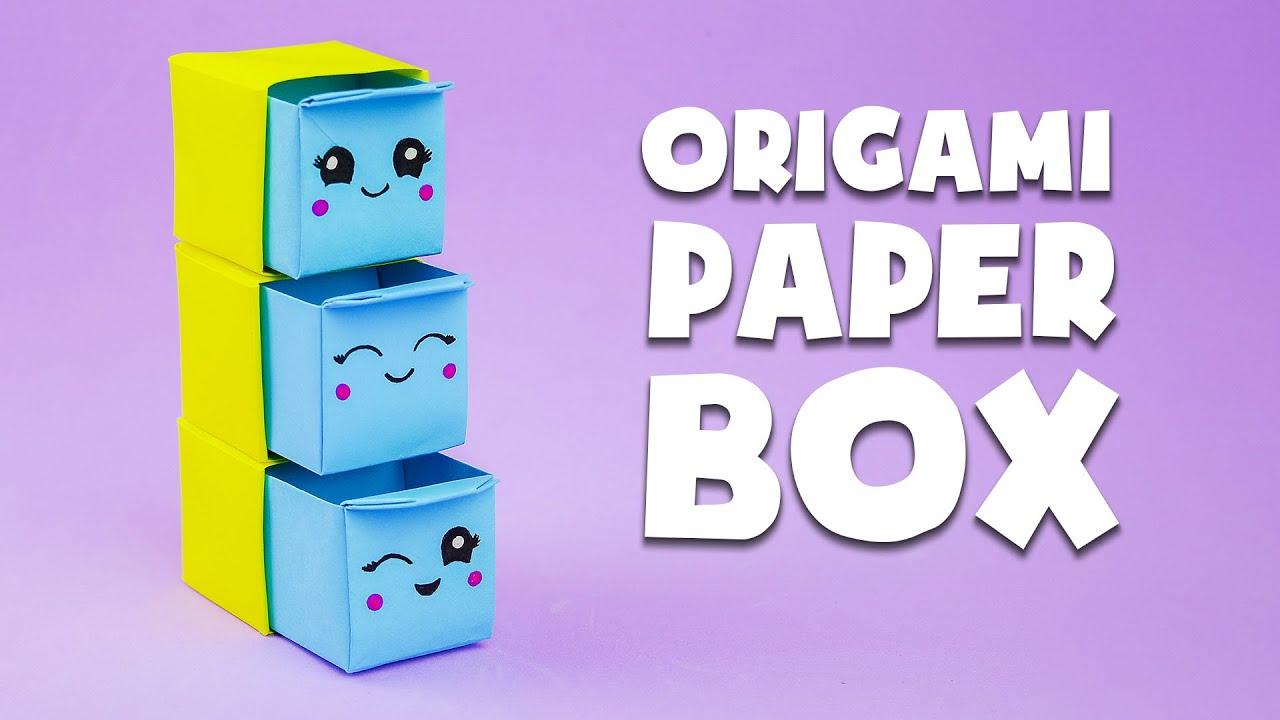 Tutorial: portaoggetti di carta origami | DIY Lavoretti di carta | Origami Paper Box
